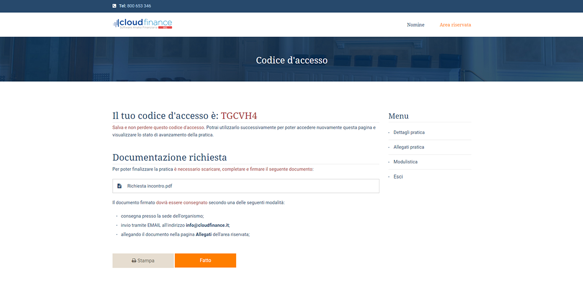 Codice Accesso